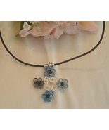 Paper Quilled Handcrafted Four Corner Flower Necklace  - $14.99