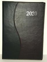 2020 Daily Planner Date Book Brown Black Calendar Schedule 8x11 Tabbed - $12.73