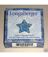 Longaberger Pottery 2000 Century Celebration Basket Tie On New In Box Au... - $7.87