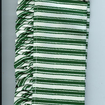 Longaberger 1997 Sweetheart Sweet Treats Basket Green White Stripe Fabric Liner - $10.84