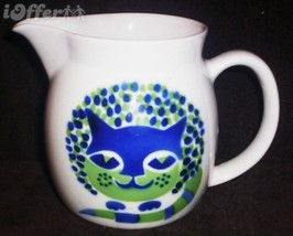 SCANDINAVIAN(FINNISH) MODERN-ARABIA BLUE CAT (KISSA) PITCHER - $27.45