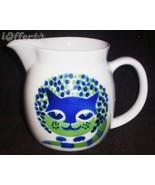 SCANDINAVIAN(FINNISH) MODERN-ARABIA BLUE CAT (KISSA) PITCHER - $27.45