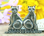 Vintage two cats brooch pin sterling silver marcasite signed boma 925 thumb155 crop