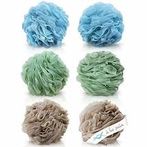 Loofah Bath Sponge XL 70g Set of 6 Spa Colors by À La Paix - Soft Exfol... - $17.48