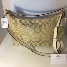 New Coach Signature Ivory Handbag Purse 325.00 Retail - £113.90 GBP