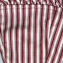 Longaberger 1994 Sweetheart Red Stripe Be Mine Small Oval Basket Fabric Liner - $14.80
