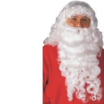 Christmas - Santa Claus Beard & Wig - Deluxe - Rubies - Adult White St. ... - $14.70