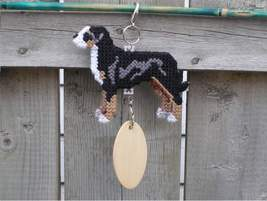 Greater Swiss Mountain Dog crate tag or hang anywhere, handmade art by artisan - $24.00