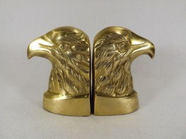 Beautifully Detailed Solid Cast Brass BALD EAGLE Book Ends Weighted VTG.... - $45.00