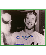 MICKEY MANTLE,  Signed 8X10 Photo with COA,  NE... - $279.99