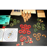 1900 CARROM-ARCHARENA Crown Combo Game Set Pieces Spinners Ten Pins Ring... - $22.99