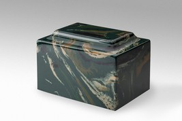 Classic Marble Black & Beige 100 Cubic Inches Cremation Urn Ashes, TSA A... - $104.99