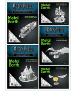 Metal Earth 3D Laser Cut Steel Model Kit Harry Potter Bundle 5 Themes Set - $69.29