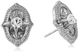 1928 Jewelry Silver-Tone Crystal Vintage Inspired Post Stud Earrings - $37.95