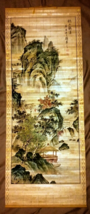 Antique Chinese Scroll Hand Painted on Bamboo and signed by Artist - $523.71