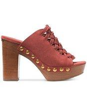 MICHAEL Michael Kors Women's Westley Mule Cinnamon Sport Suede Sandal 8 M