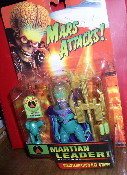 Mars Attacks Green Martian Leader Action Figurine MOC