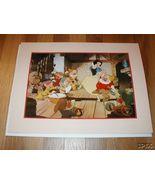 Disney Snow White Gold Seal Lithograph - $32.67