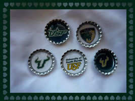 USF Bulls Set of 5 Bottlecaps for Scrapping  - $3.99