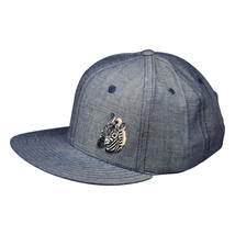 Zebra Hat by LET'S BE IRIE - Washed Blue Denim Snapback - £16.59 GBP