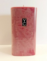 "Yankee Candle Pomegranate Scented YC Home Collection 6"" Pillar Candle  - $23.70"