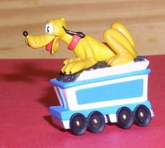 Disney Pluto  Mickey's Dog Train rider  Rare Figurine - $14.19