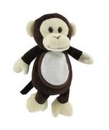 Madison Monkey Plush Pet baby gift 18ct aida bib Charles Craft - $9.00