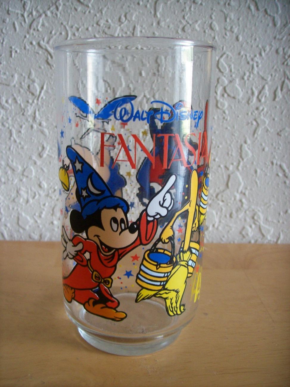 "Disney 1980's Mc Donald's ""Fantasia"" Tall Glass"