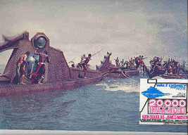 20,000 Leagues Under  Sea  Nautilus Battle Lobby Card - $27.39