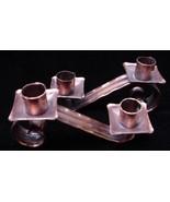 Old Craftsman Arts & Crafts Hammered Copper Candle Holders  - $17.50