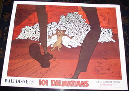 Disney  101 Dalmatians dogs and cat Lobby Card - $18.59
