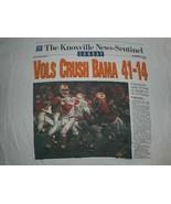 Vintage 1995 Tennessee Vols Crush Alabama Article Peyton Manning T-Shirt XL - $99.99