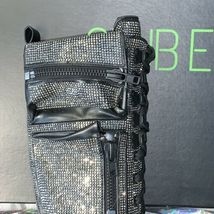 New In Box DOLLS KILL Club Exx Bling Brigade Knee High Combat Boots SIZE 5 image 4