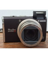 Canon PowerShot PowerShot SX200 IS 12.1 MP Digital Camera Battery & Char... - $125.77