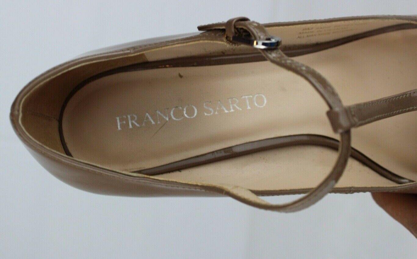 Franco Sarto Sadie Damen Mary Jane Schuhe Vorne Offen Taupe Größe 9M image 6