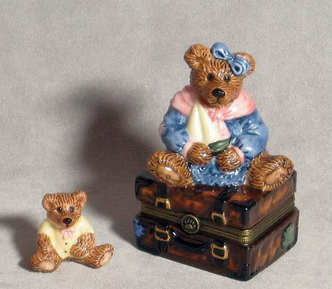 "Primary image for Boyds Bears-Le Bearmoge Porcelain Box ""Bailey Bear w/Suitcase"" #392008- 1E-NIB"