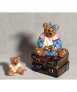 "Boyds Bears-Le Bearmoge Porcelain Box ""Bailey Bear w/Suitcase"" #392008- ... - $14.99"