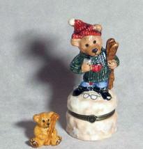"""Boyds Bears-LeBearmoge Porcelain Box """"Knute .. Downhill Racer"""" #392003-2E-NIB - $10.99"""