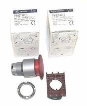 LOT OF 2 NIB GENERAL ELECTRIC P9MET4RL1 PUSH BUTTONS, RED