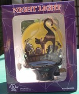 Black Cat with flying bats Night  Light Halloween - $24.99