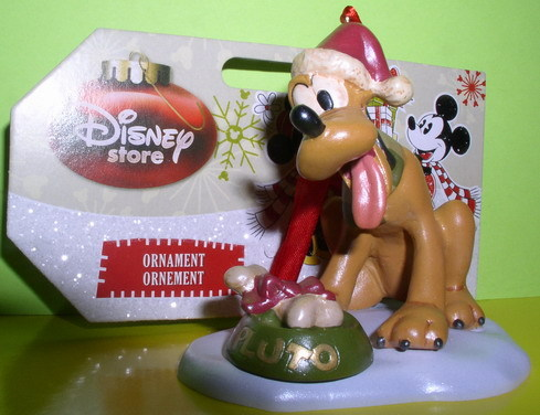 Disney Pluto with bone and dish Ornament Figurine