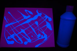16oz Bottle Blue UV Blacklight Reactive TEMPERA Paint - $16.95