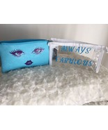 Blue Clear Air Travel Wristlet Makeup Bag Gift Under 10 Dollars Free Shi... - $8.90