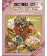 Secrets of Bow Tying Booklet Plaid No. 8299 - $9.98