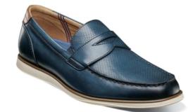 Florsheim Atlantic Moc Toe Penny Loafer Slip On Navy 13344-410 - €88,10 EUR