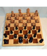 12X12 Square Box All Wood Pcs Ajedrez Chess Game Set Handcrafted In Mexi... - $56.10