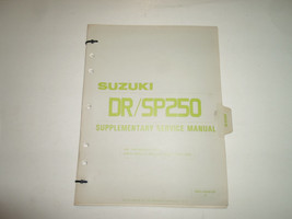 1985 Suzuki DR/SP250 Supplementary Service Manual Loose Leaf Factory Oem Book 85 - $24.70