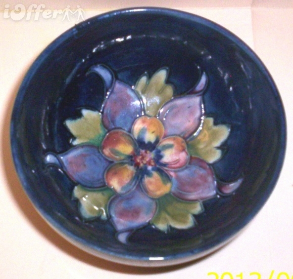 Primary image for ENGLISH STAFFORDSHIRE ART POTTERY-- MOORCROFT COLUMBINE BOWL