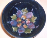 ENGLISH STAFFORDSHIRE ART POTTERY-- MOORCROFT COLUMBINE BOWL