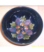 ENGLISH STAFFORDSHIRE ART POTTERY-- MOORCROFT COLUMBINE BOWL - $124.95